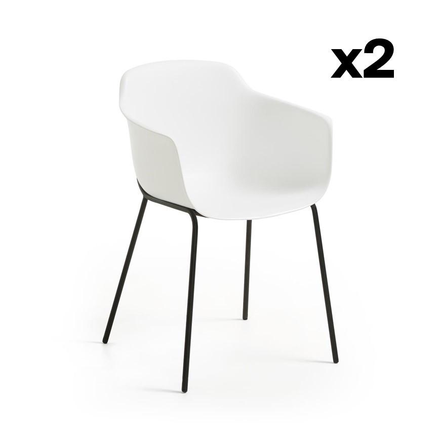 Set of 2 Chairs Khasumi   White