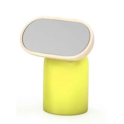 Kokeshi Kleiner ovaler Spiegel Gelb
