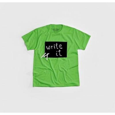 """""""Cotton Twitter"""" Writable T-shirt Children   Lemon"""