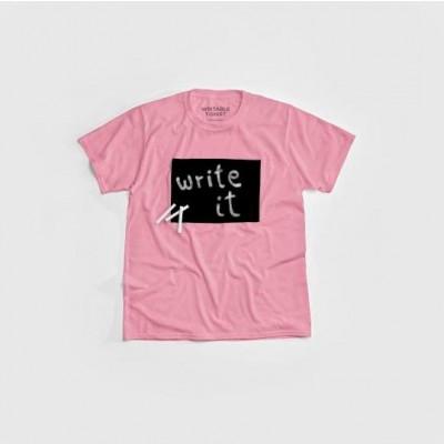 """Cotton Twitter"" Writable T-shirt Children   Pink"