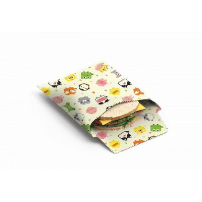 Wiederverwendbare Sandwich- und Snackbeutel 2er-Set   Kinder