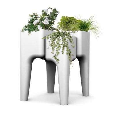 Gemüsegarten-Tisch KIGA | Weiß M