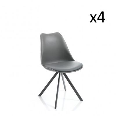 4er-Set   Stuhl Kiki Slim   Grau