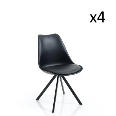 4er-Set   Stuhl Kiki Slim   Schwarz