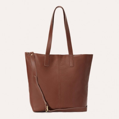 Leather Tote Bag Journalist | Brown