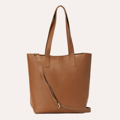 Leather Tote Bag Journalist | Olive
