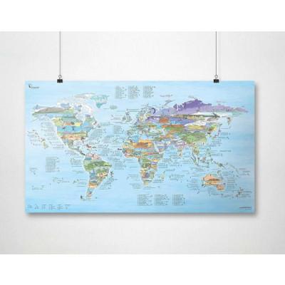 Wiederbeschreibbare Weltkarte   Kitesurf