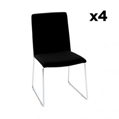 4-er Set Esszimmerstühle Kitos | Schwarz