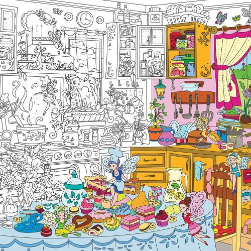 Kitchen Fairies Colouring