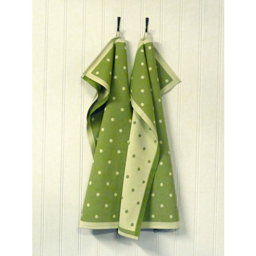A set of 2 Kitchen Towels Green