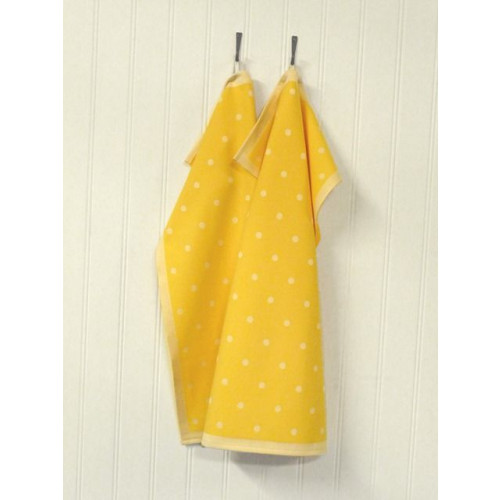 A set of 2 Kitchen Towels Yellow