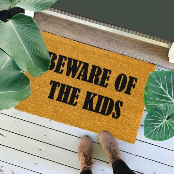 Fußmatte Vorsicht vor den Kindern