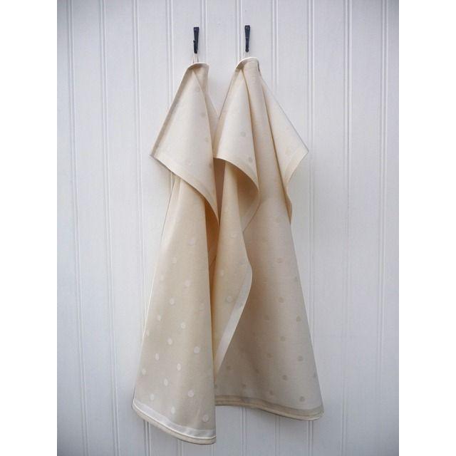 A set of 2 Kitchen Towels Beige