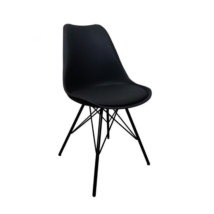 Stuhl Metal Luuk   Schwarz