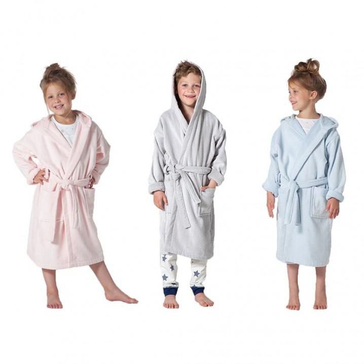 Bathrobe Pure for Kids   White