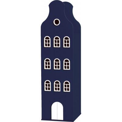 Amsterdam Glockengiebel-Schrank   Kobaltblau