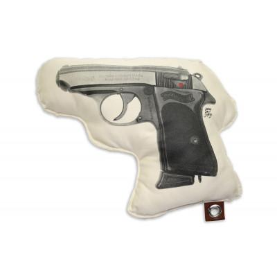 Mich sanft töten Kissen | Pistole