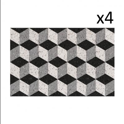 Vinyl-Tischsets Bauhaus 4er-Set
