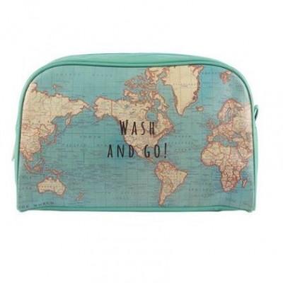 Vintage Map   Wash Bag