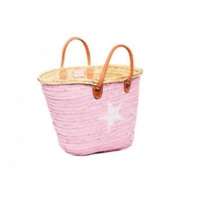 Minimaxi Basket   Pink & White