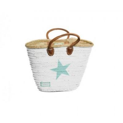 Minimaxi Basket   White & Turquoise