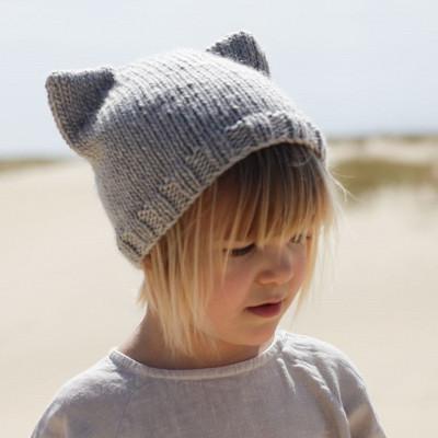 DIY Kit Kitten Beanie | Spotted Grey