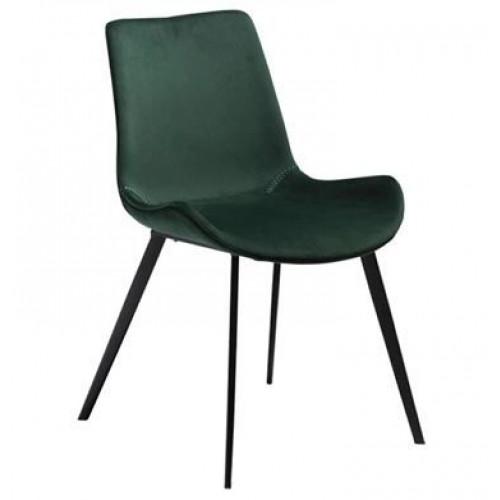 Hype chair, emerald green velvet