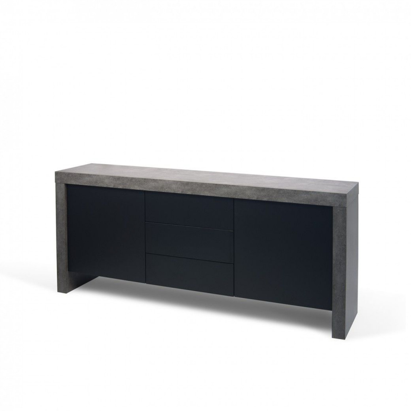 Kobe 3 Schubladen + 2 Türen | Beton