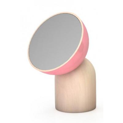 Kokeshi Großer Runder Spiegel Rosa