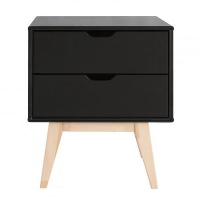 Nachttisch mit Schubladen Kolo | Schwarz