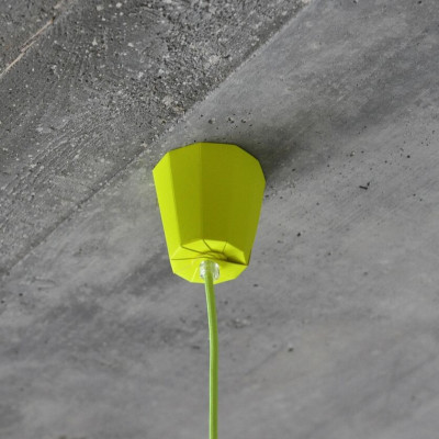 Ceiling Rose   Neon Yellow