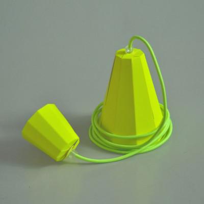 Paper lampshade   Neon Yellow