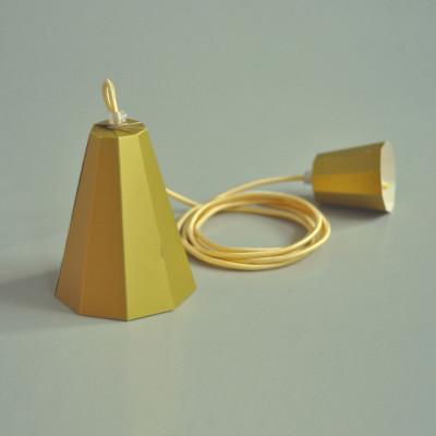 Paper Lamp Set   Gold