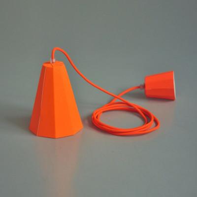 Paper Lamp Set   Neon Orange