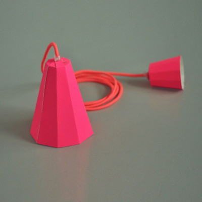 Paper Lamp Set   Pink