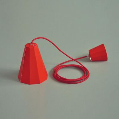 Paper Lamp Set   Red