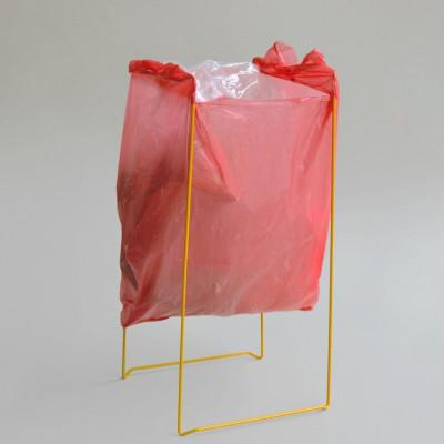 Plastic Bag Holder   Yellow