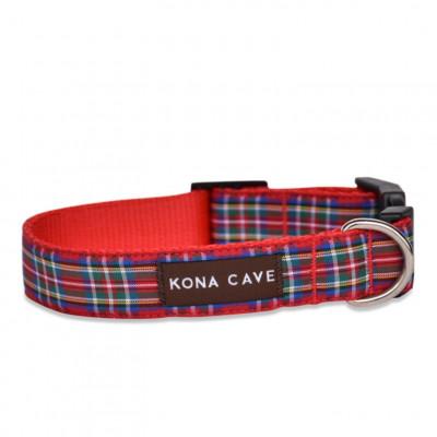 Verstellbares Hundehalsband & Leine M/L | Royal Tartan