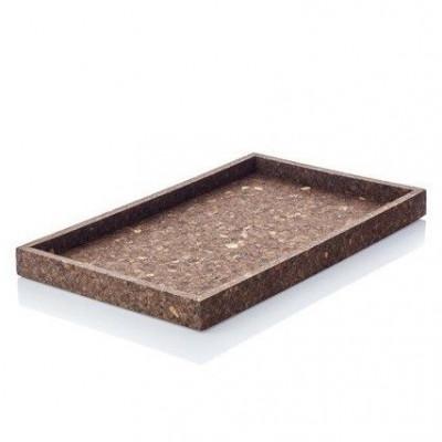 Dark Cork Tray | Rectangular