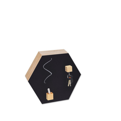 Hexagon Chalk-and Magnetic Board | Black