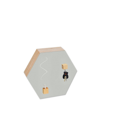 Hexagon Chalk-and Magnetic Board | Grey