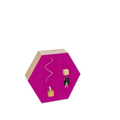 Hexagon Chalk-and Magnetic Board | Magenta
