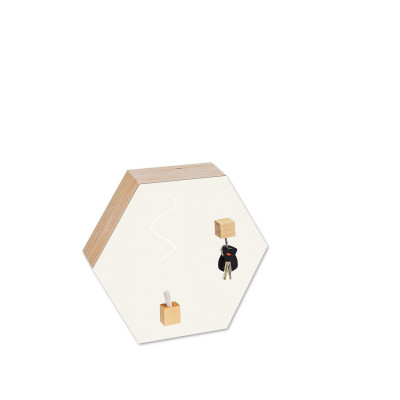 Hexagon Chalk-and Magnetic Board | White