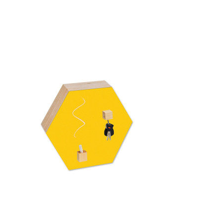 Hexagon Chalk-and Magnetic Board | Yellow