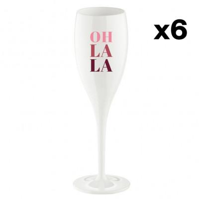 Champagnergläser Oh la la   6er-Set