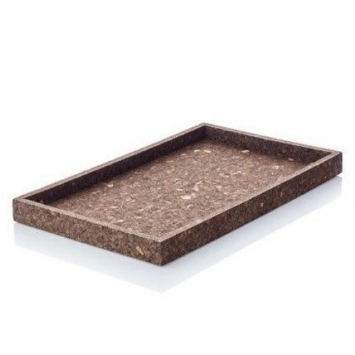 Dark Cork Tray   Rectangular