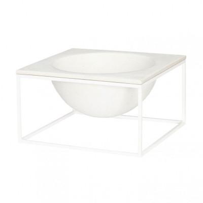 Moon Bowl   White Steel Frame / White Top