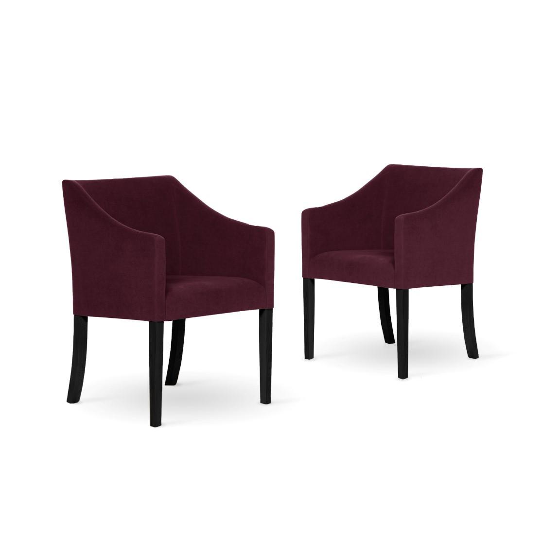 2er-Set Esszimmerstühlen Illusion   Bordeaux