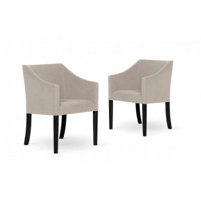 2er-Set Esszimmerstühlen Illusion | Warmes Weiß