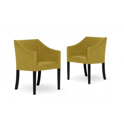 2er-Set Esszimmerstühlen Illusion | Gelb